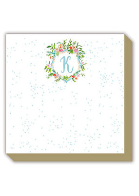 Mini Luxe watercolor Notepad Monogram K