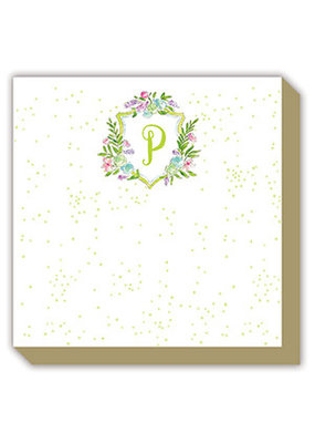 Mini Luxe watercolor Notepad Monogram P
