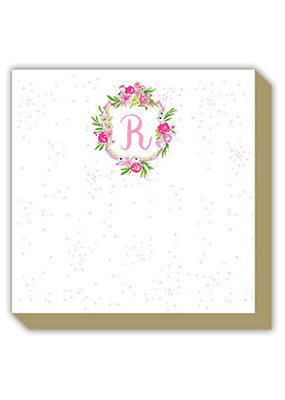 Mini Luxe watercolor Notepad Monogram R