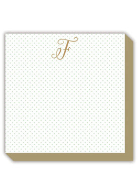Mini Marble Monogram F Luxe Notepad