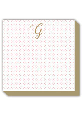 Mini Marble Monogram G Luxe Notepad