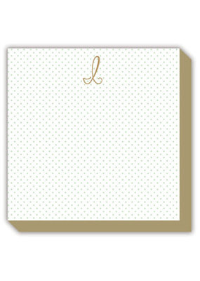 Mini Marble Monogram I Luxe Notepad