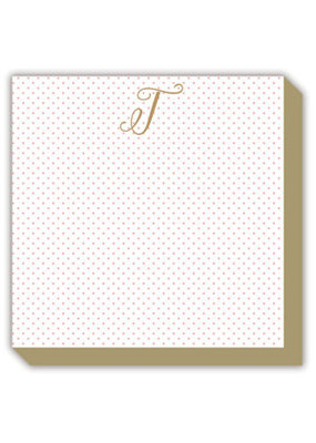 Mini Marble Monogram T Luxe Notepad
