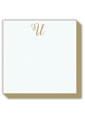Mini Marble Monogram U Luxe Notepad