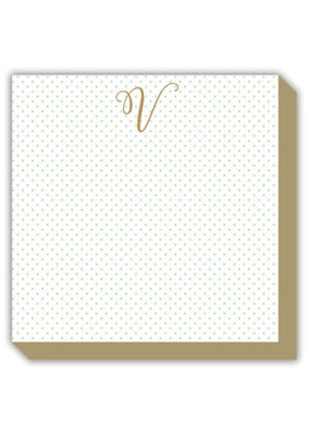 Rosanne Beck Collections Mini Marble Monogram V Luxe Notepad