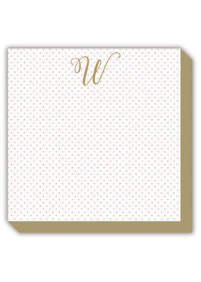 Mini Marble Monogram W Luxe Notepad