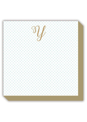 Mini Marble Monogram Y Luxe Notepad