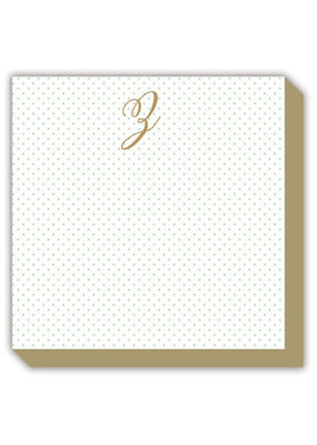 Mini Marble Monogram Z Luxe Notepad