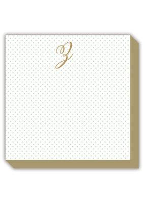 Mini Marble Monogram Z Luxe Notepad