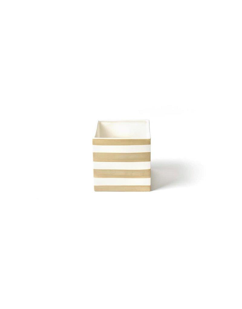 Neutral Stripe Mini Nesting Cube Medium