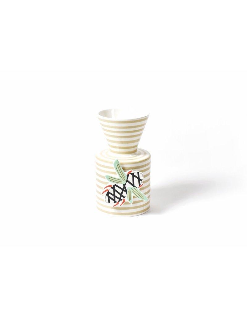 Neutral Stripe Mini Vase