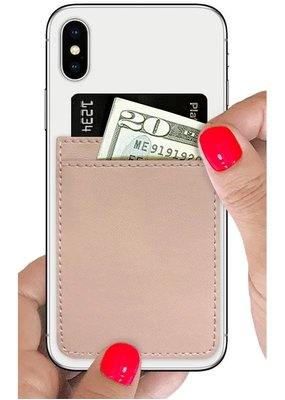 Nude Faux Leather Phone Pocket