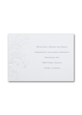 Antique Elegance Reception Card
