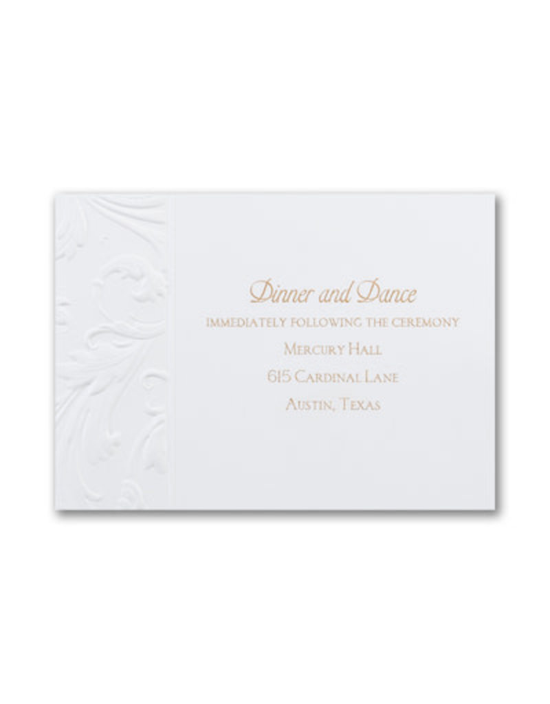 Antique Flourish Reception Card