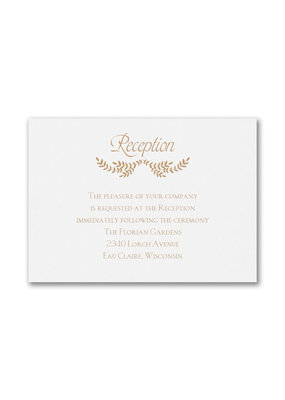 Blissful Reception Card