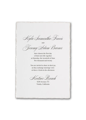 Deckled Elegance Invitation