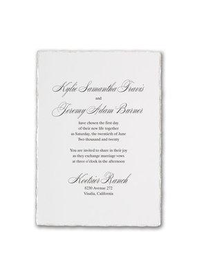 Deckled Elegance Invitation