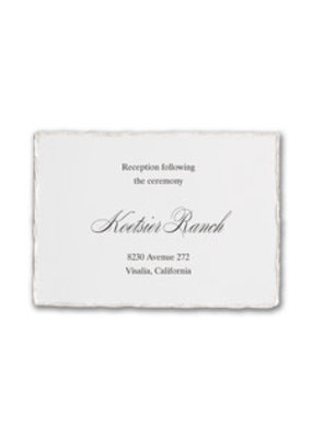 Deckled Elegance Reception Card