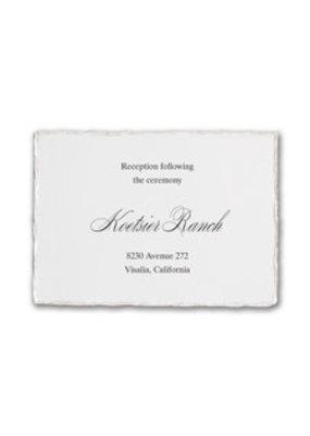 Deckled Elegance Reception Card