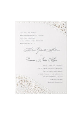 Divine Day - White Shimmer Invitation