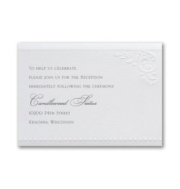 Divine Day - White Shimmer Reception Card