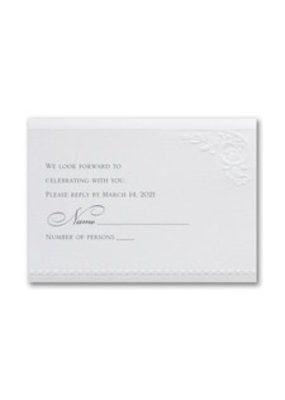Divine Day - White Shimmer Response Card