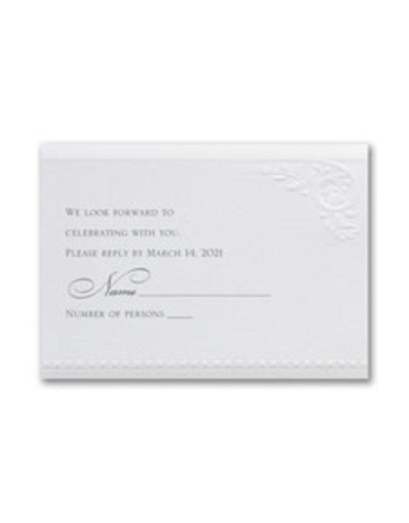 Divine Day - White Shimmer Response Card