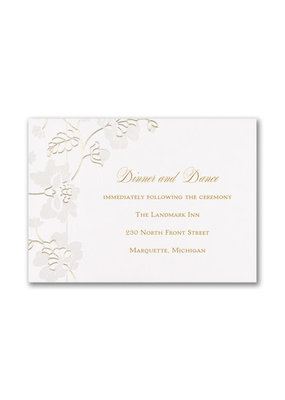 Delicate Blossoms Reception Card