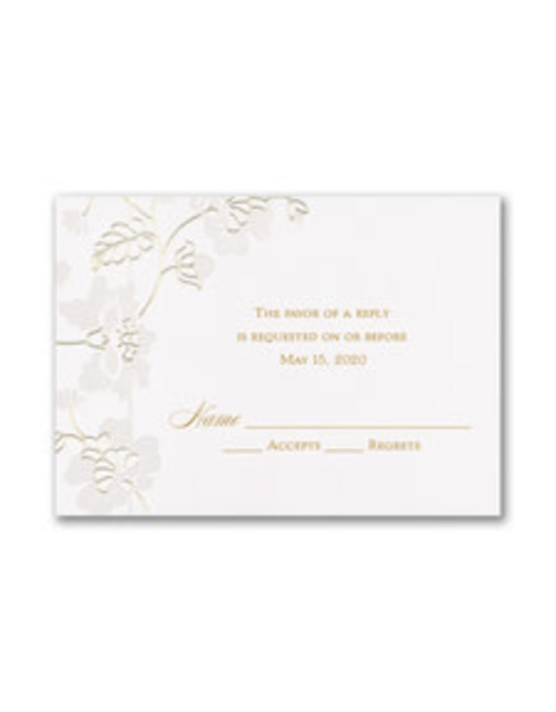 Delicate Blossoms Response Card