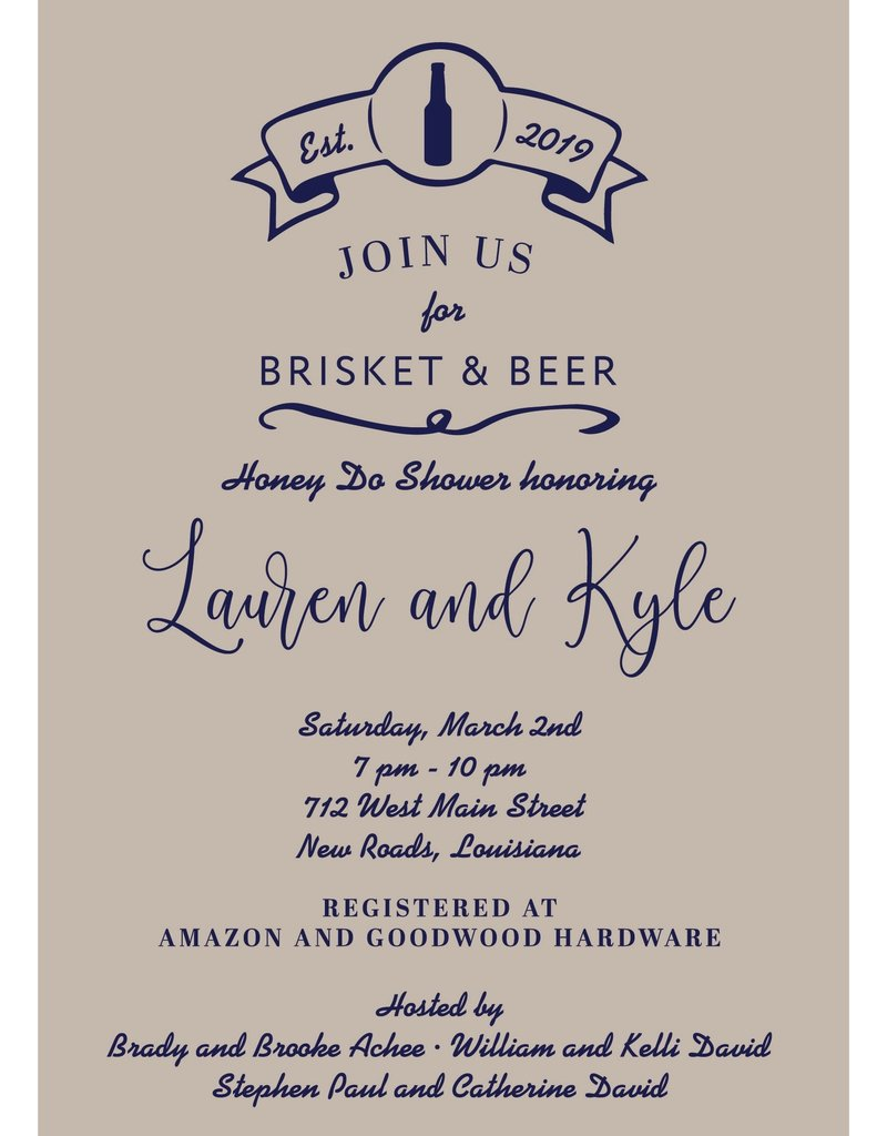 Brisket & Beer Honey Do