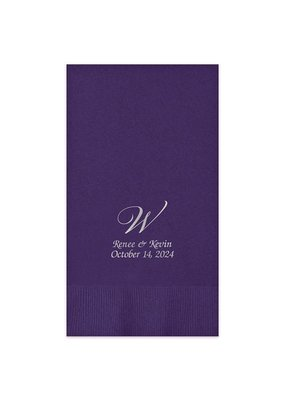Serenity Foil-Pressed Guest Towel