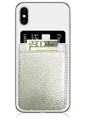 IDecoz Silver Faux Leather Phone Pocket