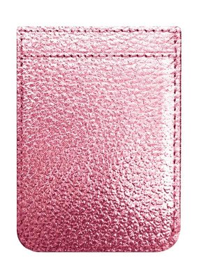 Rose Gold Faux Leather Phone Pocket