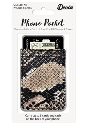 Python Faux Leather Phone Pocket