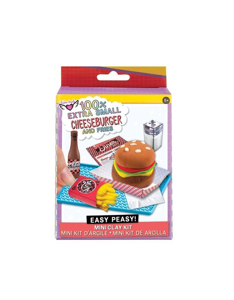 100% Extra Small Burger & Fries Mini Clay Kit
