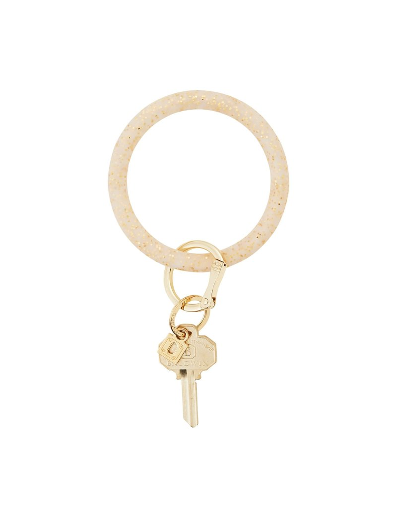 Gold Confetti Big O Key Ring