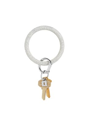 Silver Confetti Big O Key Ring