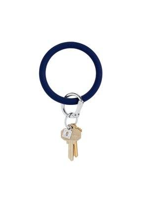 Midnight Navy Big O Key Ring