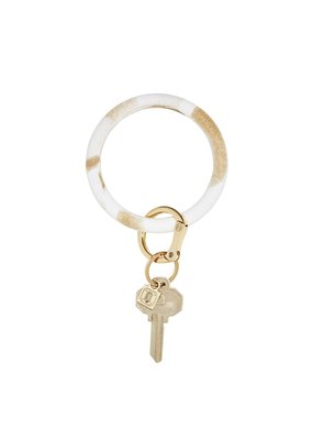 Gold Rush Marble Big O Key Ring