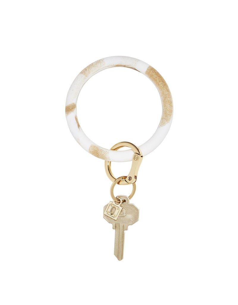 Gold Rush Marble Big O Key Ring