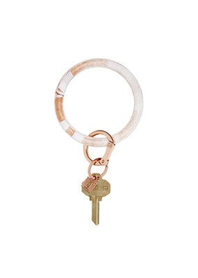 Rose Gold Marble Big O Key Ring