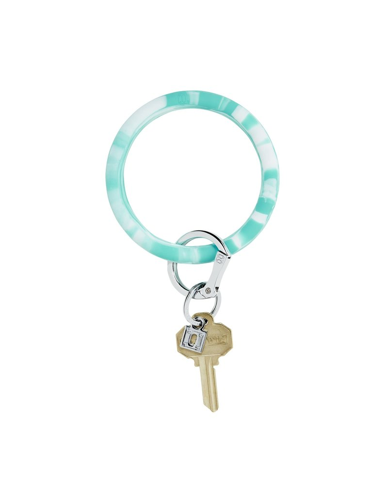 In the Pool Marble Big O Key Ring
