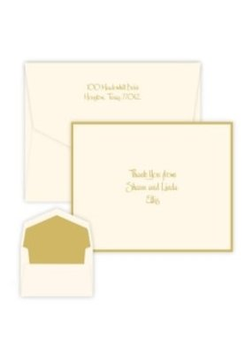 Embossed Graphics Gold Silhouette Note