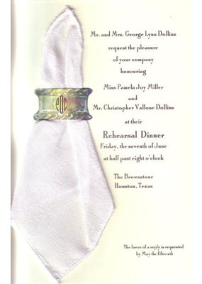 Bella Grace Collection Napkin White