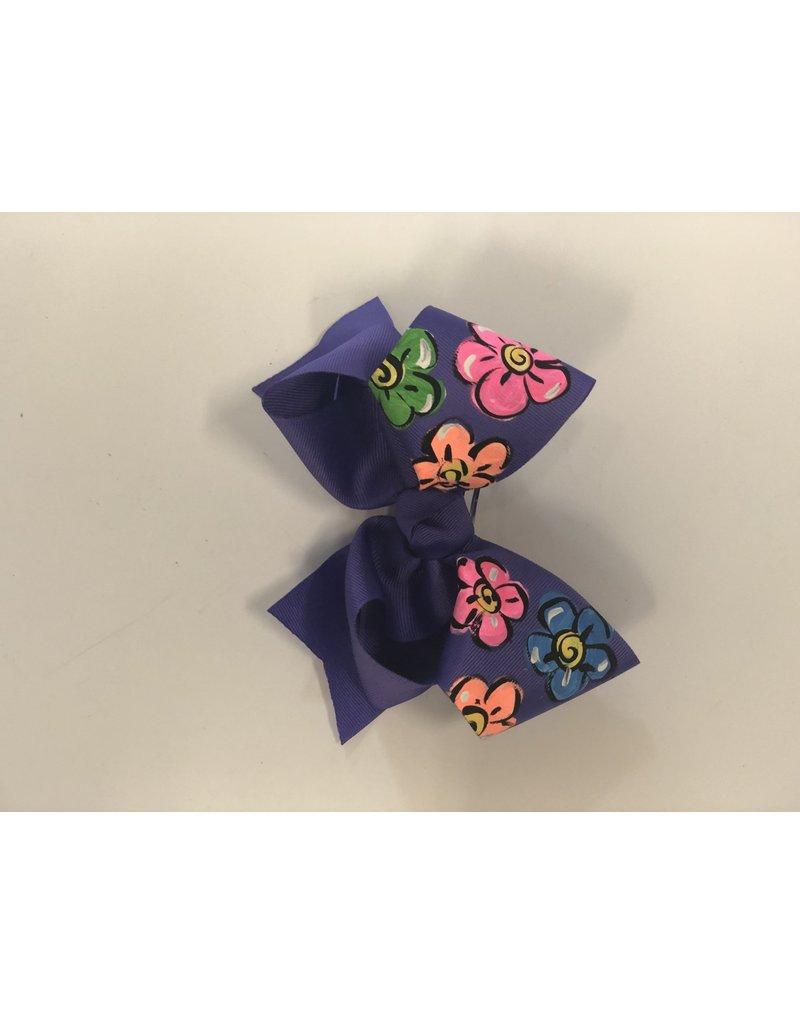 Purple Flower Large Bow