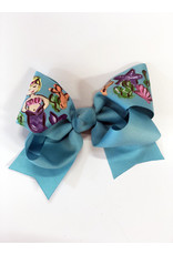 Mermaid Blue Large Bow