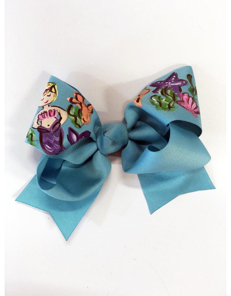 Mermaid Blue Large Bow