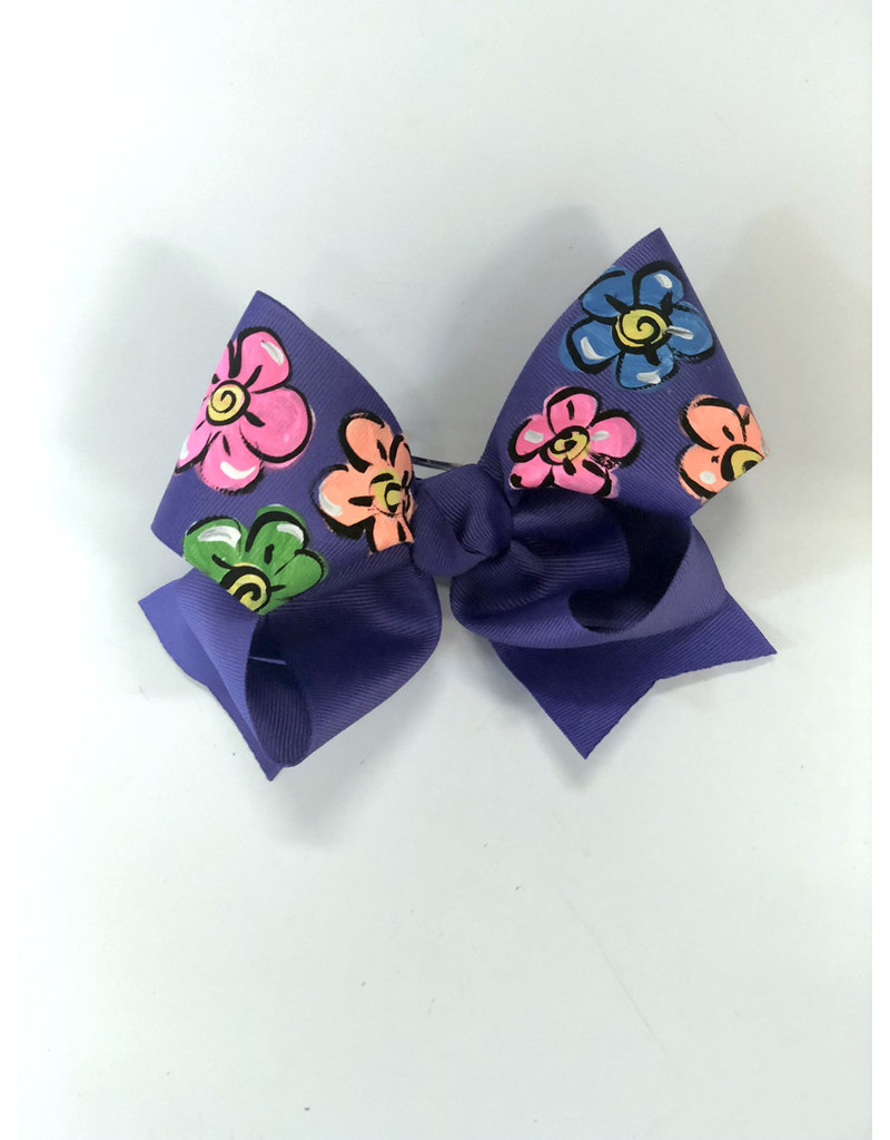 Two Sisters Bows Purple Flower Large Bow