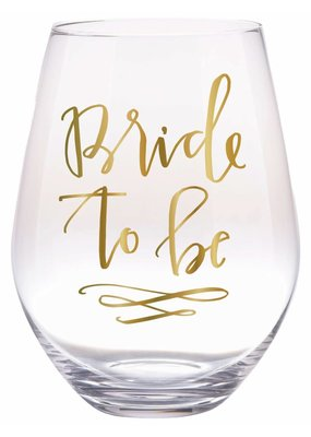 Slant Collections Bride to Be Stemless Wine Glass