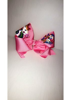 Two Sisters Bows Pink Unicorn XLarge Bow